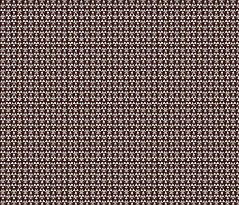Hazard! - 1in (white\brown) fabric by studiofibonacci on Spoonflower - custom fabric