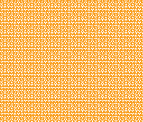 Hazard! - 1in (white\orange) fabric by studiofibonacci on Spoonflower - custom fabric