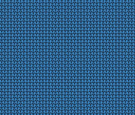Hazard! - 1in (black\blue) fabric by studiofibonacci on Spoonflower - custom fabric