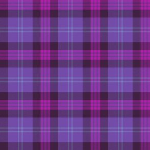 "Great Scot tartan, 6"" purple"