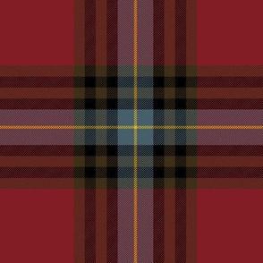 "MacLeay / Livingstone tartan, 6"" weathered"