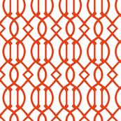 Dark Orange Trellis Large Scale