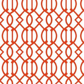 Dark Orange Trellis Large Scale