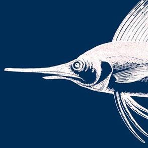 Big Blue Marlin!! (white & navy)
