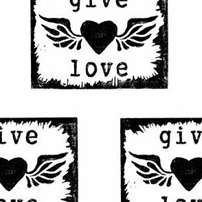 give love, black and white