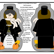 Halloween Ichabod I'm Not Afraid Of You Crane Victorian Cut and Sew Doll 2017