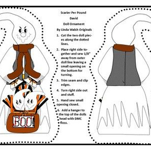 Halloween Scarier Per Pound David Cut and Sew Ghost Doll