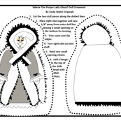 Halloween Valerie The Proper Lady Ghost Cut and Sew Doll