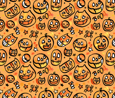 Halloween 2017 fabric by leticia_plate on Spoonflower - custom fabric