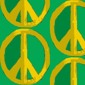 Gold Peace with Green