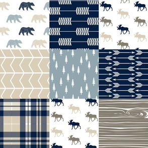 Rustic Woods Patchwork - bear and moose w/ plaid