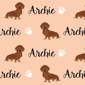custom name dog fabric