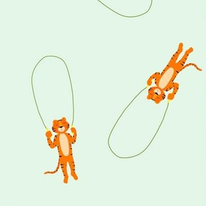 Jump rope tiger on mint