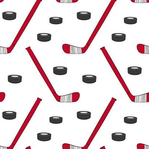 hockey - sports fabric - red