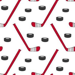 hockey - sports fabric - red