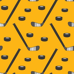 hockey - sports fabric - custom yellow