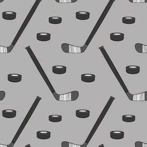 hockey - sports fabric - monochrome grey