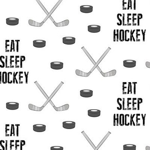 Eat Sleep Hockey - monochrome