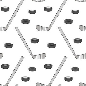 hockey - sports fabric - monochrome