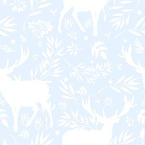 "6"" Deer Silhouette Toile / Light Blue"