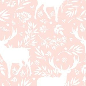 """6"""" Deer Silhouette Toile / Pink"""