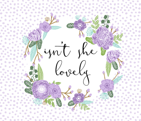 "isn't she lovely 42"" x 36"" blanket fabric by charlottewinter on Spoonflower - custom fabric"
