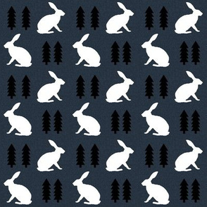 rabbit navy blue linen