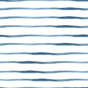 Blue Stripes Watercolor