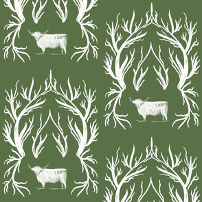Highlander Damask in Green