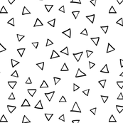 Black and white_triangle_doodles