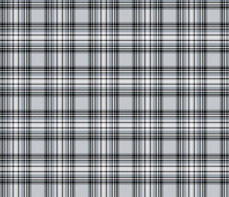 grey tartan fabric by misstiina on Spoonflower - custom fabric