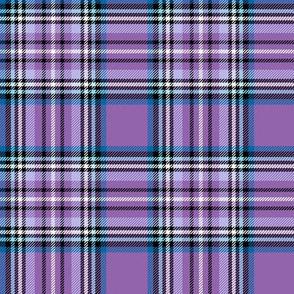purple blue tartan