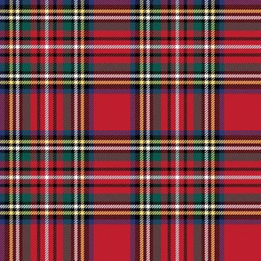 "royal stewart tartan style 1 with 4"" repeat - perfect for christmas"