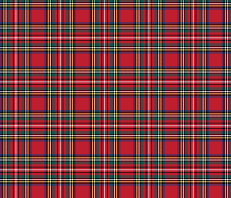 royal stewart tartan style 1 fabric by misstiina on Spoonflower - custom fabric