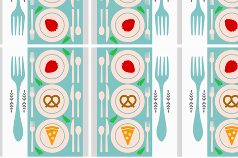 Healthy wealthy food fabric by anuradha_misal on Spoonflower - custom fabric