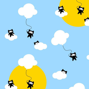 Ninja cats in the sky pattern