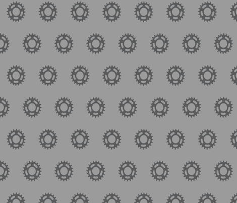Cogs Pattern Large Grey fabric by ruthmaddockmakes on Spoonflower - custom fabric