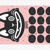 2018 Cat Calander Tea Towel