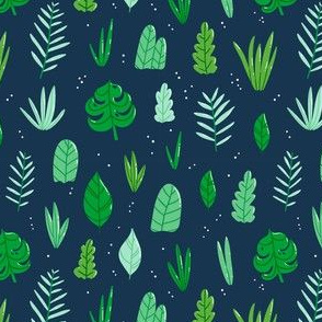 Jungle leaves pattern