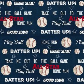 AllStar vintage navy  worn baseball stars and text  XXL1549