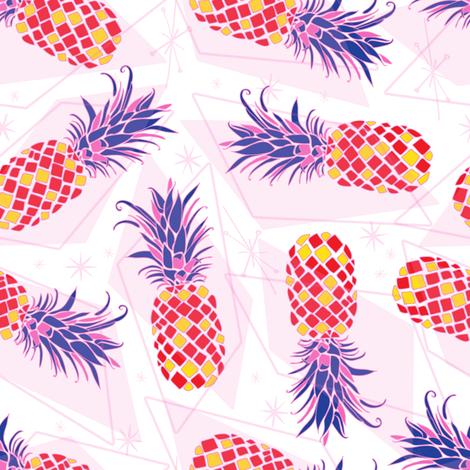 Atomic Pineapple 3 fabric by haleeholland on Spoonflower - custom fabric