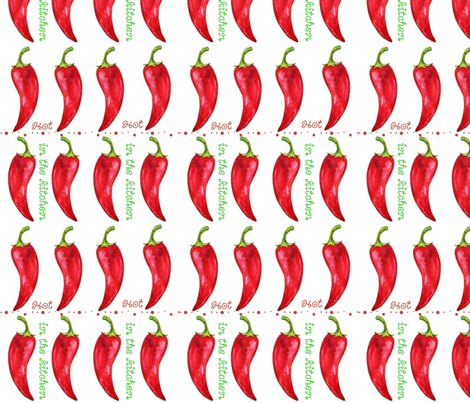 Hot in the Kitchen fabric by floramoon on Spoonflower - custom fabric