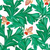 Green Leaf Art Nouveau