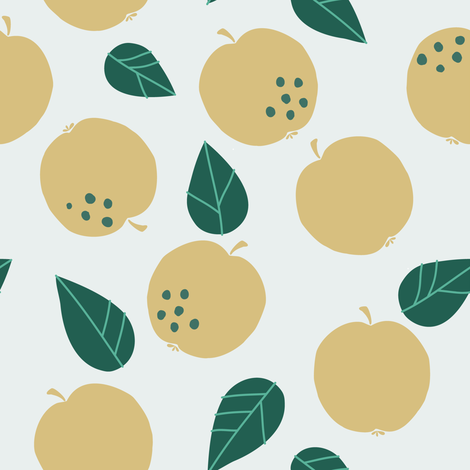 Apple Mania green fabric by studio_kajsa_rolfsson on Spoonflower - custom fabric