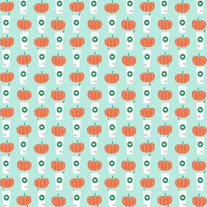 super tiny pumpkins coffee pumpkin spice latte coffee drinks cute coffee latte fall autumn design - mint