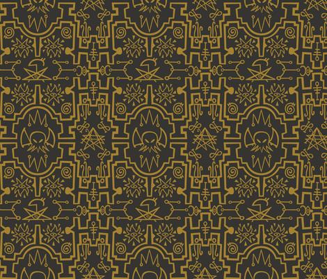 mystical_tribes2-02spoonflower_13 fabric by natalia_gonzalez on Spoonflower - custom fabric
