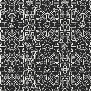 Cthulhu pattern in black and grey