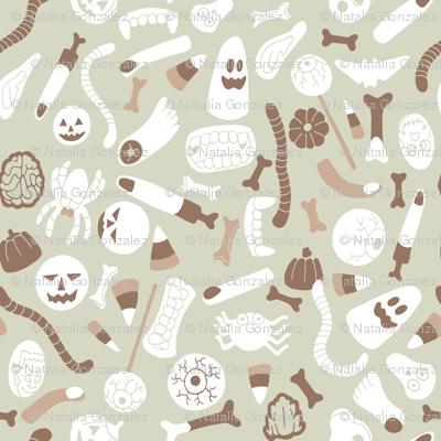 halloween candy in brown tones