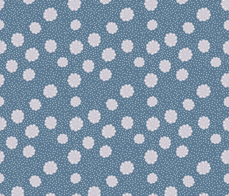 snowflake fabric by krista_power on Spoonflower - custom fabric
