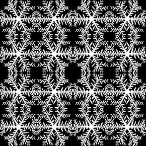 B&W Snowflake, Patterned